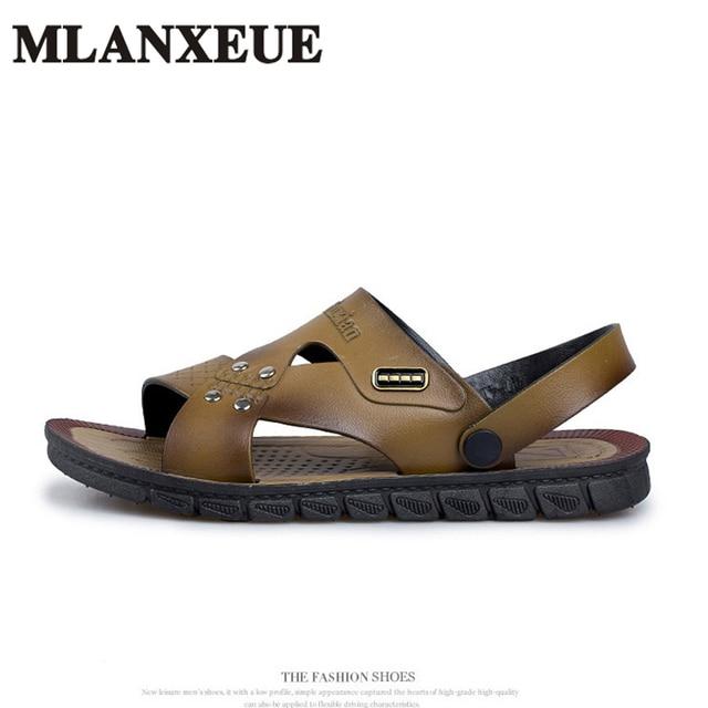 b894e513628f1e Sandals 2018 Summer Men s Sandals Fashion Breathable Beach Flip Flop Men s  Casual Shoes Outdoor Shoes Boy Shoes Famous Designer