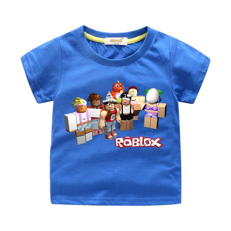 Boys' Clothing (2-16 Years) Clothes, Shoes & Accessories Kids Roblox Cartoon Boys Girls Christmas T Shirt Tshirt Xmas Game 7 To Enjoy High Reputation In The International Market