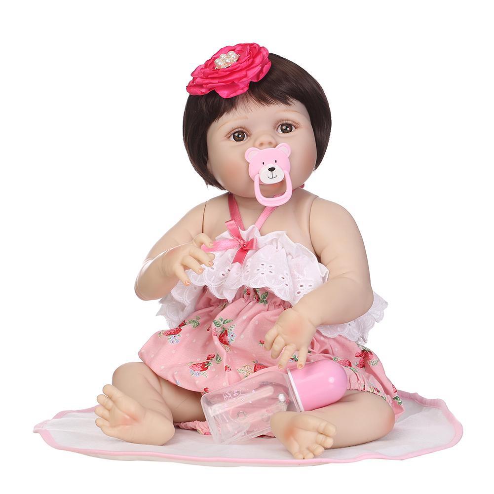 New Simulation Opened Eyes Baby Girl Reborn Doll Vinyl Silicone Kids Accompany Toy New Simulation Opened Eyes Baby Girl Reborn Doll Vinyl Silicone Kids Accompany Toy