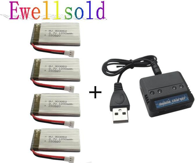 Ewellsold X5SW X5SC M18 H5P 2.4G RC Quadcopter 3.7V 1200mah Li-po - Հեռակառավարման խաղալիքներ