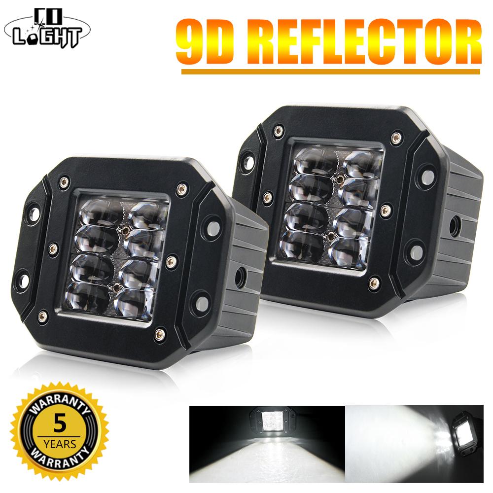 CO LIGHT 5 40W LED Work Light 12V 24V High Power 9D Led Beams Car Offroad Driving Light Bar for 4x4 Offroad ATV Trucks Tractors