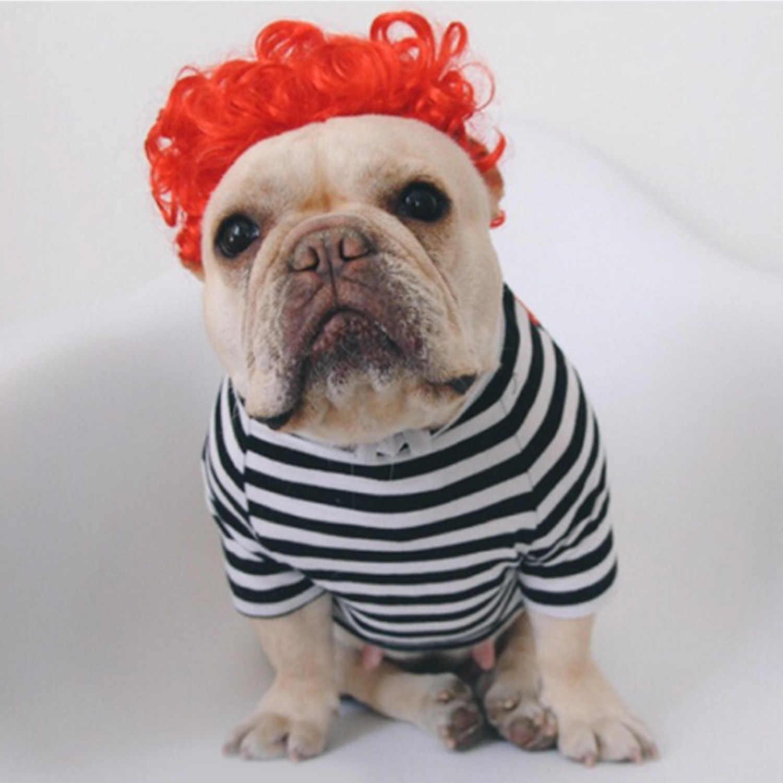 Behogar Забавный парик для домашних животных парик аксессуары для кошки собаки Косплей Хэллоуин Вечеринка Рождество праздничные принадлежности платье украшение