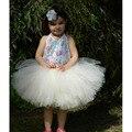Marfim Saia Bebê Infantil com Arco Bonito Chiffon Lolita Saia Tutu Pettiskirt Para A Menina Primeiro Aniversário Do Bebê Recém-nascido Menina