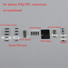 20pcs LCD Display home button front back camera power volume usb charge battery FPC connector on mainboard for iPhone 8 8g plus