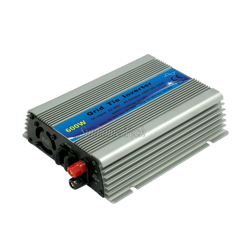 600 Вт Солнечный Grid-Tie инвертор со слежением за максимальной точкой мощности инвертор с чистым синусом 10,5-28V или 22-60VDC до 110V или 230VAC инверторы д...
