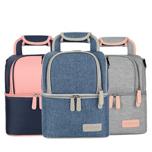 ThiKin Thermal Food Picnic Lunch Bags for Women Portable Insulated Canvas Bag Cooler Fashion Box Pack Tote