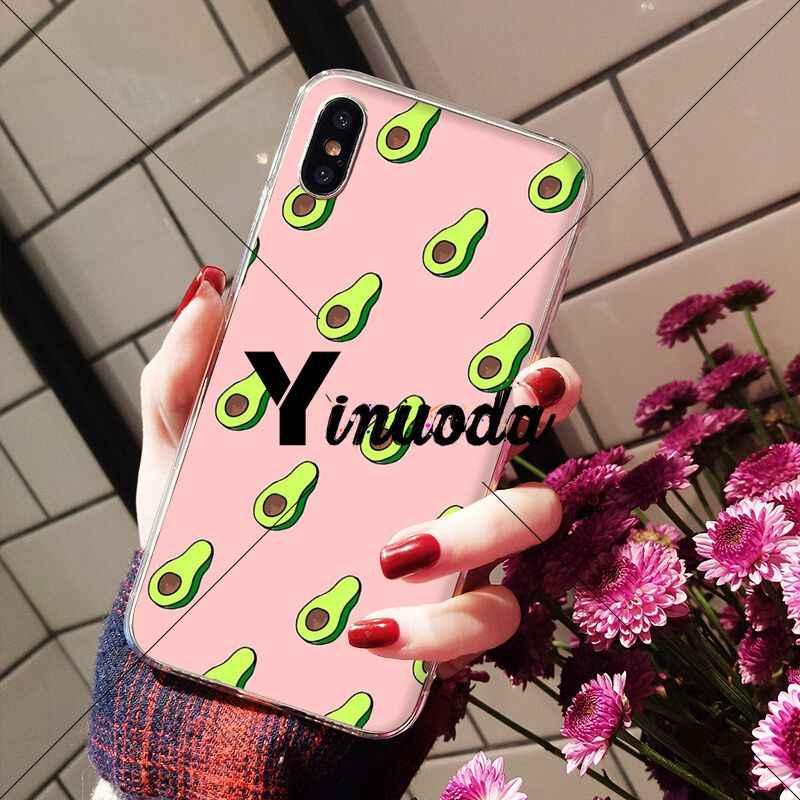 Yinuoda Art śmieszne Tumblr awokado przezroczyste powłoki telefon pokrywa dla Apple iPhone 8 7 6 6S Plus X XS MAX 5 5S SE XR komórkowy przypadkach