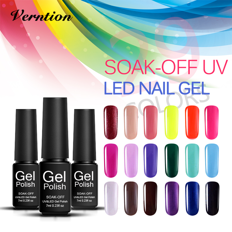 Verntion Professional Gel Nail Color Uv Varnish New Products 2018 ...