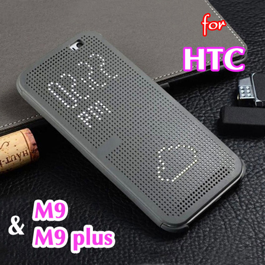 Asuwish Smart Cover Flip Silicone Case For HTC One M9 Plus M9+ M 9 Original Phone Case Slim Silicon Dot Dotted Auto Sleep View image