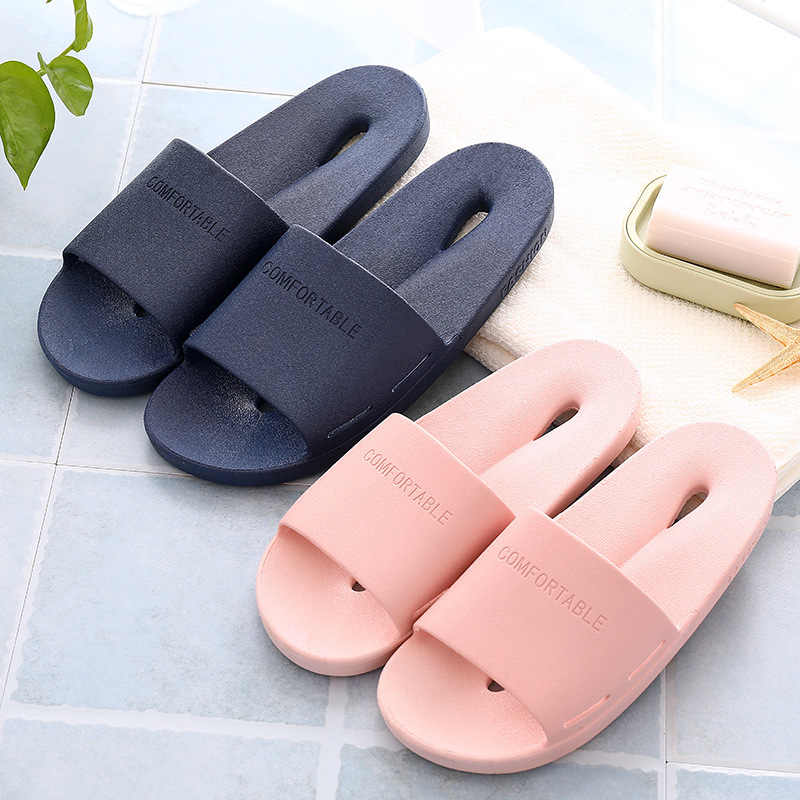 Женские домашние тапочки из мягкого ПВХ, дышащая Летняя обувь на плоской подошве, женские домашние шлепанцы, Нескользящие, унисекс, Тапочки для ванной, SH021505