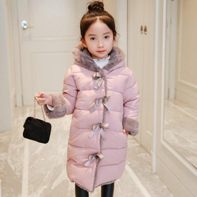 2018 nuevas chaquetas acolchadas largas para niñas e424b21ca52c