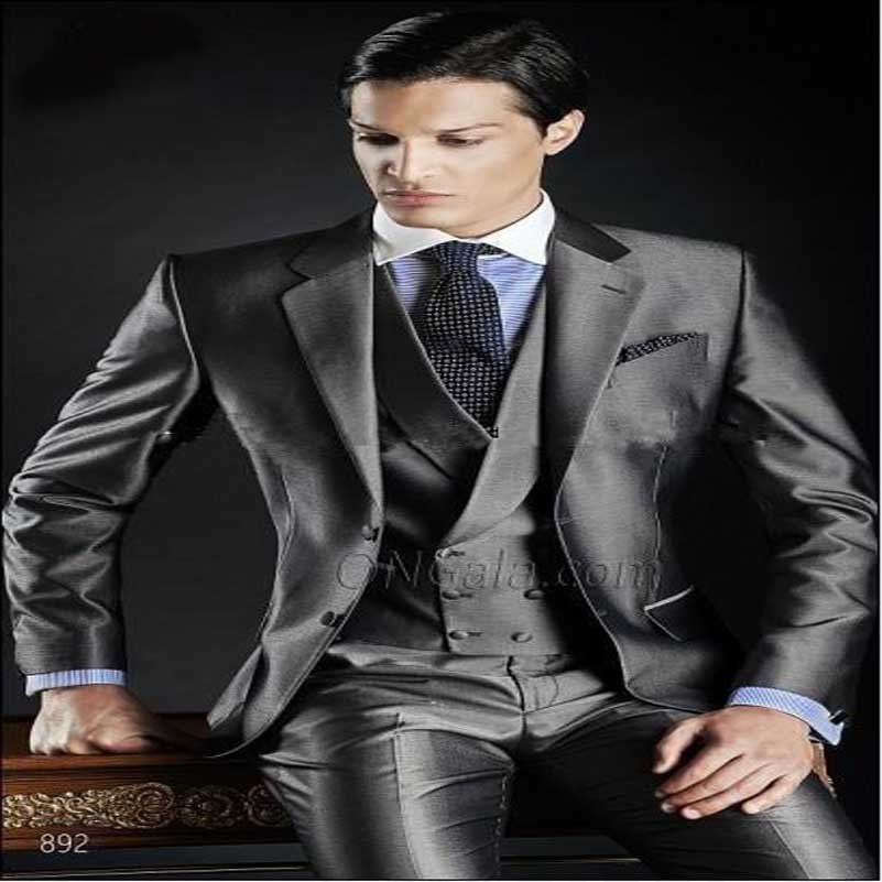 Aliexpress.com : Buy Modern Slim Fit Groom Tuxedos Charcoal ...
