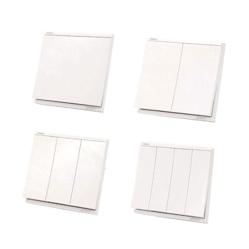 white wall switch panel light switch gang switch 2 way