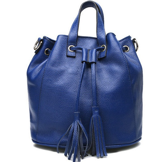 HD9268 2017 Fashion spring and summer Top layer Leather bucket shoulder bag leather Women handbag europe and the new spring and summer leather handbag bag simple cross head layer cowhide temperament mini bag tote bag
