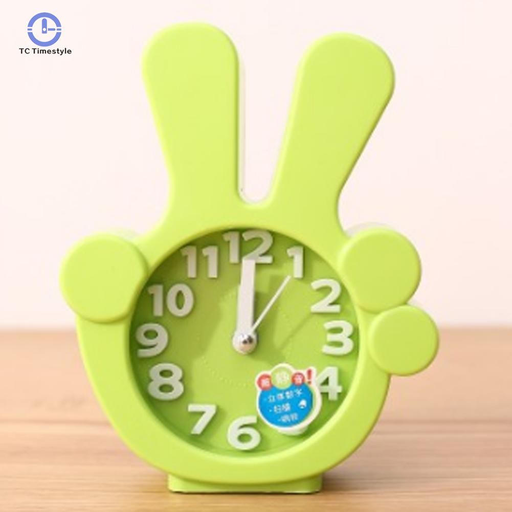 Silent Electronic Desktop Alarm Clock Children Gifts Alarm Clocks Finger Shape Desktop Home Decoration Accessories Modern