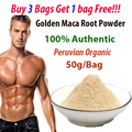 Buy 3 get 1 free! 50g Golden Peruvian Maca root powder improve sex LIBIDO booster maca powder personal care for male & female