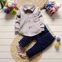 Новинка года; летний спортивный костюм для малышей Комплект модной дизайнерской одежды из хлопка для маленьких мальчиков; От 1 до 2 лет брендовые рубашки комплект из 2 предметов;