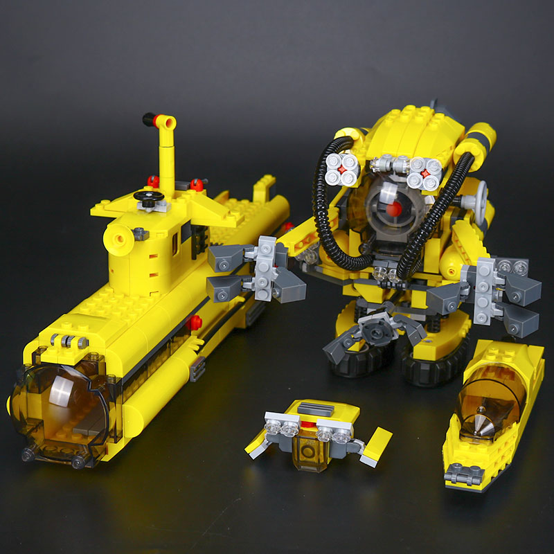 Lepin 24012 673Pc Creative The Underwater Explora Ship Set Children Educational Building Blocks Bricks boys gift Toys Model 4888 new lepin 16042 pirate ship series building blocks the slient mary set children educational bricks toys model gift with 71042