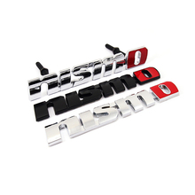 2016 Nismo Auto Car Stickers Chrome Metal Front Grill Badge Emblem Styling Accessories for Nissan Juke Tiida X-trail Qashqai