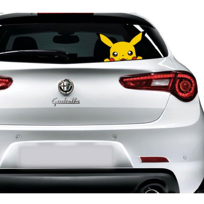 Image 2 - Car sticker Cute Pikachu pokemon figures Peeping Sticker Lovely Styling Car Accessories Motorcycle Sticker Pokemon Series Decals-in Car Stickers from Automobiles & Motorcycles