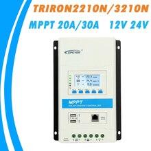 EPEVER TRIRON MPPT 30A 20A 10A Солнечный Контроллер заряда 12 в 24 в автоматический черный светильник ЖК-Модульный солнечный регулятор отрицательного заземления