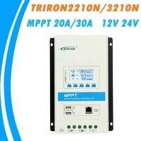 EPEVER TRIRON MPPT 30A 20A 10A Solar Charge Controller 12V 24V Auto Black light LCD Modular Solar Regulator Negative Grounding