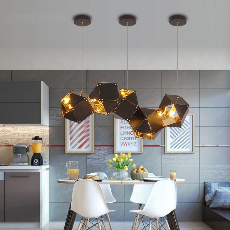Nordic Iron Art Pendant Lamp Simple Modern Home Decor Lighting Light Fixture Living Room Creative Pendant Lights Kitchen Lamp in Pendant Lights from Lights Lighting