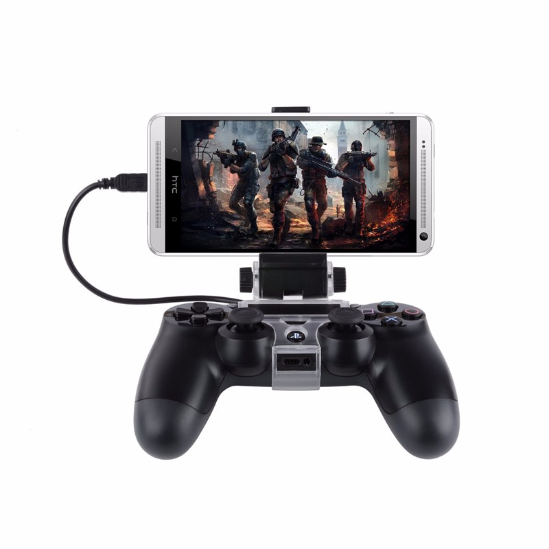 180 Degree Phone Gaming Clip Clamp Mount Holder For Samsung LG HTC Android Stand For Sony Playstation PS4 Controller Controle