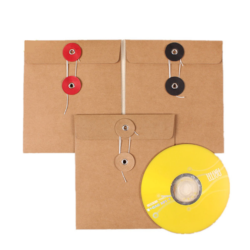 200Pcs/Lot Wholesale 13*15cm High Quality Disc CD Sleeve 250gsm Event Kraft CD DVD Paper Bag Cover CD Packaging Envelopes Boxes