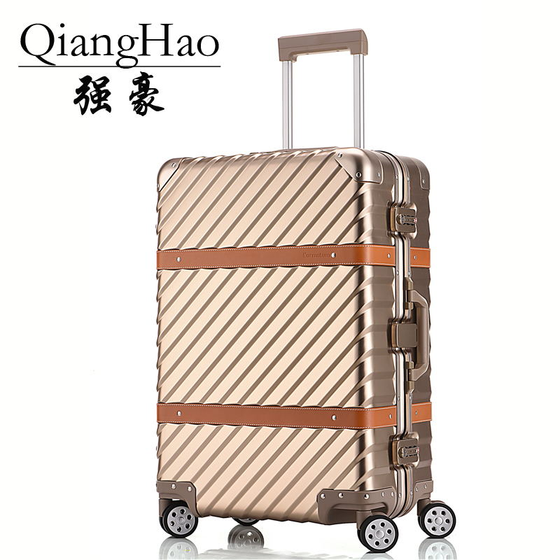 2024 28 inch Trolley Luggage Suitcase 100%  Aluminium alloy  With TSA Lock Hardside Rolling Luggage Suitcase With Wheels 12 20 24 26 inch 2pcs set oxford travel trolley luggage scratch resistant rolling luggage bags suitcase with tsa lock