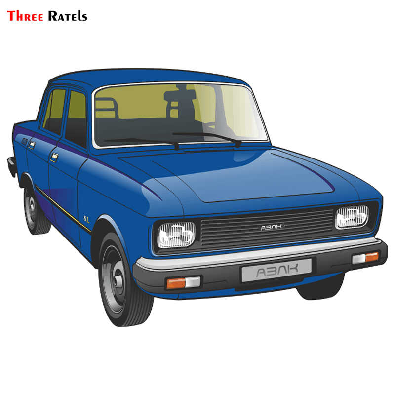 Three Ratels TRL616# 15x10cm funny car stickers AZLK Moskvich 2140 colorful car stickers and decals
