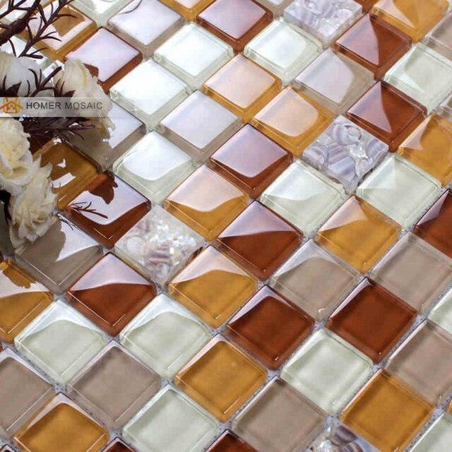 Attractive Guscio Di Ghiaccio Naturale Crackle Mattonelle Di Vetro Piastrelle Bagno  Doccia Mosaico Design E Backsplash Cucina