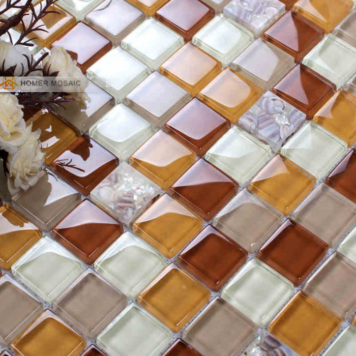Online Shop Natural Shell Ice Crackle Glass Tile Bathroom Shower Tile  Mosaic Design And Kitchen Backsplash Wall Mosaic Tiles | Aliexpress Mobile