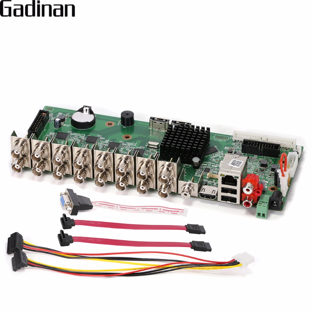 GADINAN 16 Channel 1080N DVR CCTV H.264 HI3521A Network Video Recorder Hybrid AHD/CVI/TVI/CVBS NVR 5 In 1 DIY Main Board ONVIF