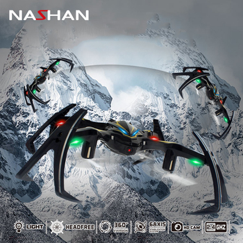 2.4G 6-Axis Gyro RC Drone With Camera Spider Quadrocopter Drones RC 180 Degree Inverted Mode Flight Flashing Drones Drone Toys remote control charging helicopter