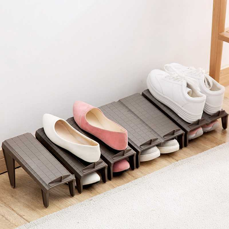 Shoes double shoes storage rack plastic integrated shoe holder simple modern living room wardrobe simple shoe rack