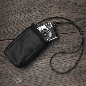 Image 3 - Yeni Mr. Taş el yapımı hakiki deri kamera çantası çanta siyah renk