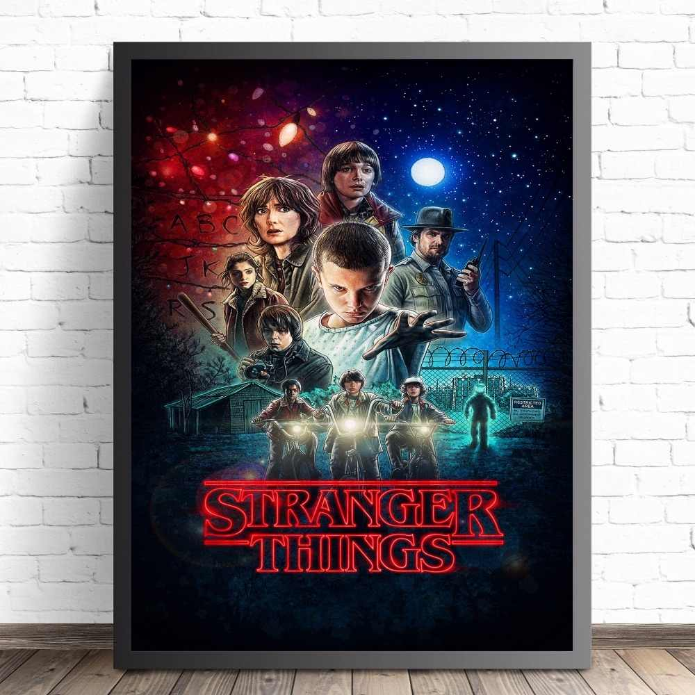 Stranger Things Movie Poster Canvas Picture Art Print Premium Quality