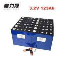 US EU libre de impuestos 12 Uds 3,2 V 123Ah lifepo4 batería 4000 ciclo LFP batería solar de litio 24V 36V 120ah RV motor sistema de energía eólica RV