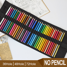 36/48/72 Holes New Handmade Pencil Bag Canvas Pencils Case Wrap Roll Up Gift Design Storage Bag цена и фото