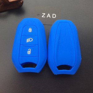 Image 5 - ZAD silicone rubber car key fob case cover holder shell for Peugeot 308 508 2008 3008 4008 5008 for Citroen smart remote key