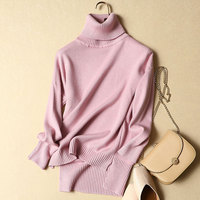 New Winter Women Long Sleeved Sweater Female Knitted Warm Turtleneck Pullovers Thicken Warm Clothing Tops