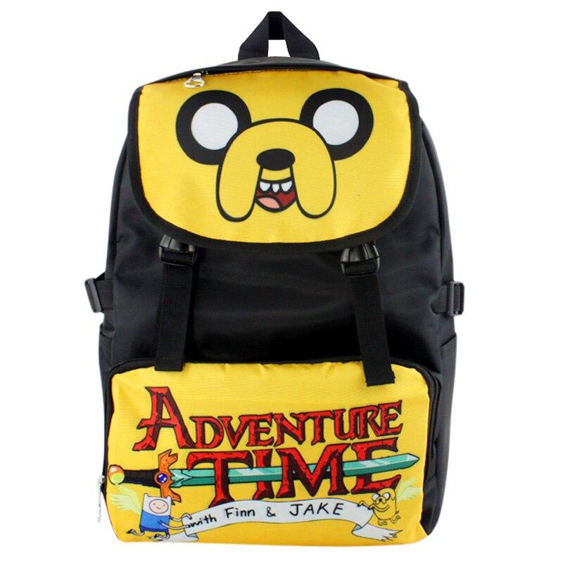 ffcc0a35b4bd6 Amerykański Cartoon Adventure czas Jake wodoodporny plecak na  laptopa/podwójne ramię torba/torba szkolna