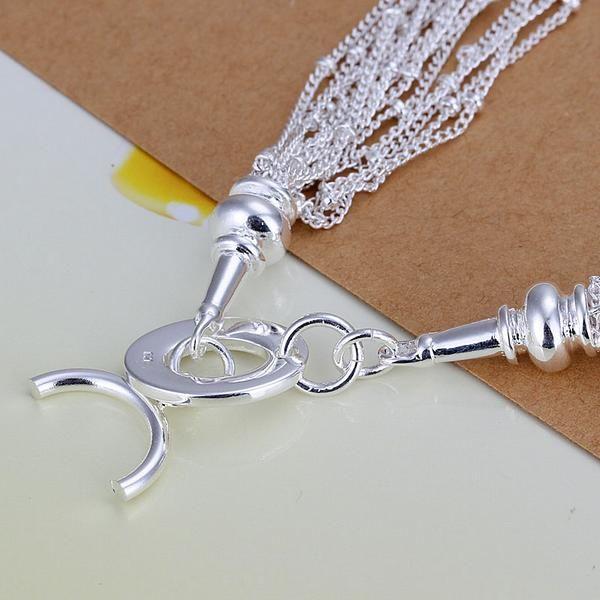 50d4b8beea75f KN-N019 بالجملة شحن مجاني الفضة مطلي قلادة مصنع السعر 925 الشحن مجانا  الأزياء والمجوهرات ل سحر القلائد