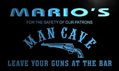 x0144-tm Marios Cowboys Man Cave Gun Custom Personalized Name Neon Sign Wholesale Dropshipping On/Off Switch 7 Colors DHL