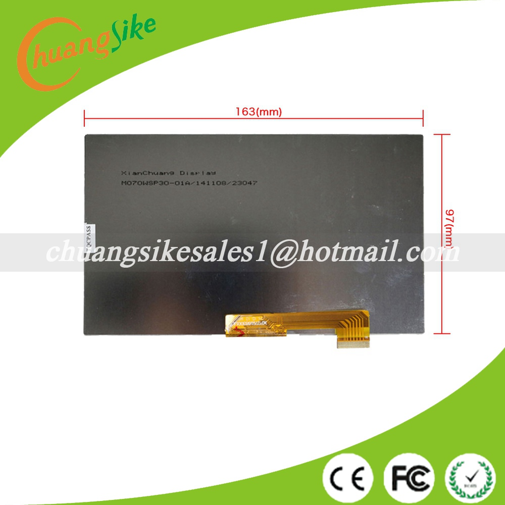 163x97mm LCD Display Matrix 7  30pin Archos 70 Copper TABLET Inner LCD Screen Panel Lens Frame Module replacement new lcd display matrix for 7 archos 70b copper tablet inner lcd display 1024x600 screen panel frame free shipping