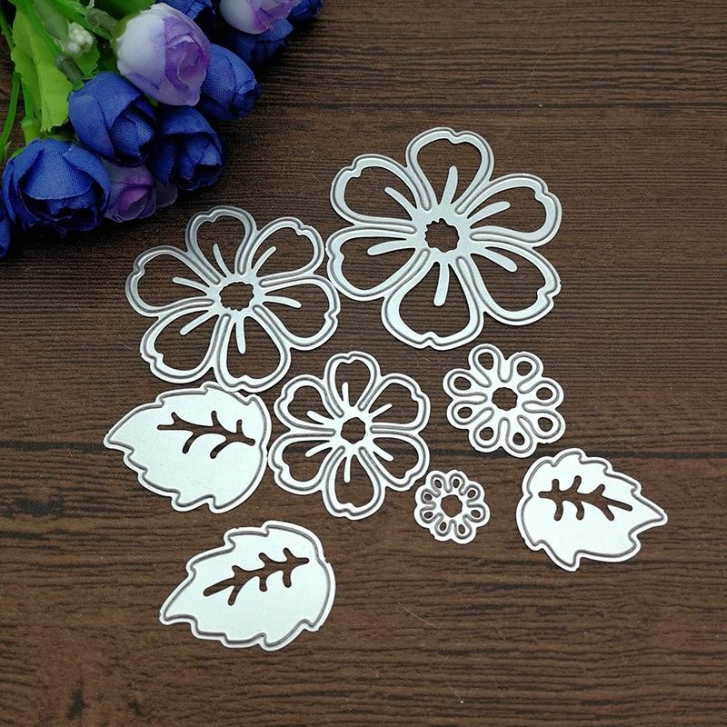 8pc Flower Spring Leaf Metal Cutting Dies Stencil Scrapbooking Photo Album Card Paper Embossing Craft Diy #1