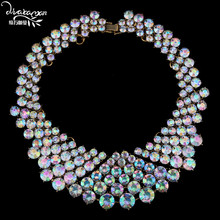 Dvacaman Brand Fashion Crystal Chokers For Women Luxury Party Collar Custom Bridal Jewelry Women Statement Necklace&Pendant N46