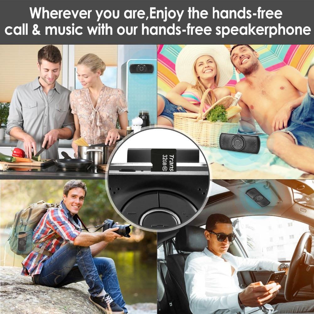ANLUD Handsfree Bluetooth Car Kit Wireless Bluetooth Speaker Phone EDR MP3 Music Player Sun Visor Clip Speakerphone (5)