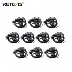10 шт D Форма 2Pin мягкие наушники цепляющиеся за уши PTT аксессуары для микрофона для Kenwood Retevis H777 RT5 RT21 Baofeng 888 s УФ 5R Walkie Talkie
